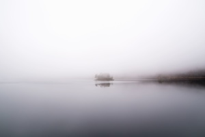 water, weather, fog, horizon, reflection, river