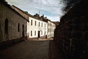 stone, wall, street, house, pathway