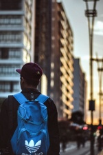 man, stil, urban, byggnader, city