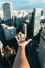 hand, vrouw, architectuur, arm, landschap, gebouwen, business, stad