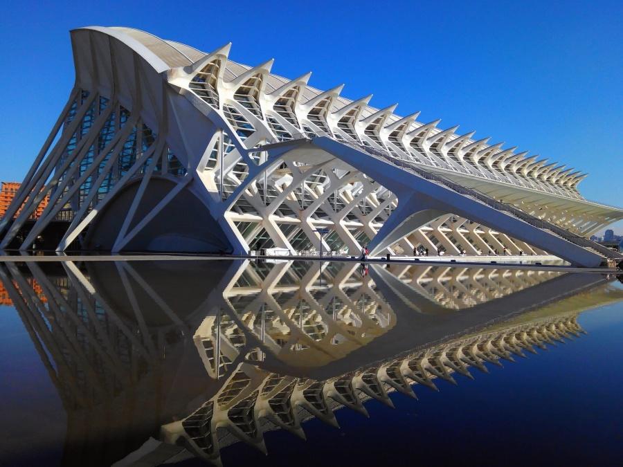 design, architecture, exterior, city, construction, sky, bridge, building