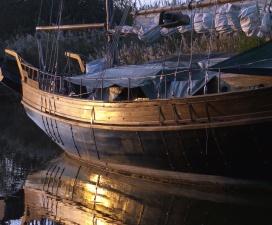 Barca a vela, acqua, imbarcazioni, barca, riflessione