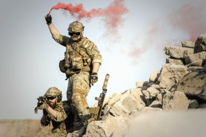 people, soldier, smoke, team, uniform, army, camouflage, desert, men, military