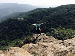 person, rocky, freedom, cliff, landscape, man, mountain