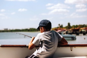boat, boy, child, sea, dock, fishing, summer