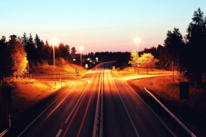 travel, road, speed, street, streaks, lights