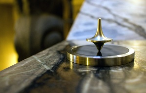metal, spinning, top, focus, gold, instrument, marble, metal