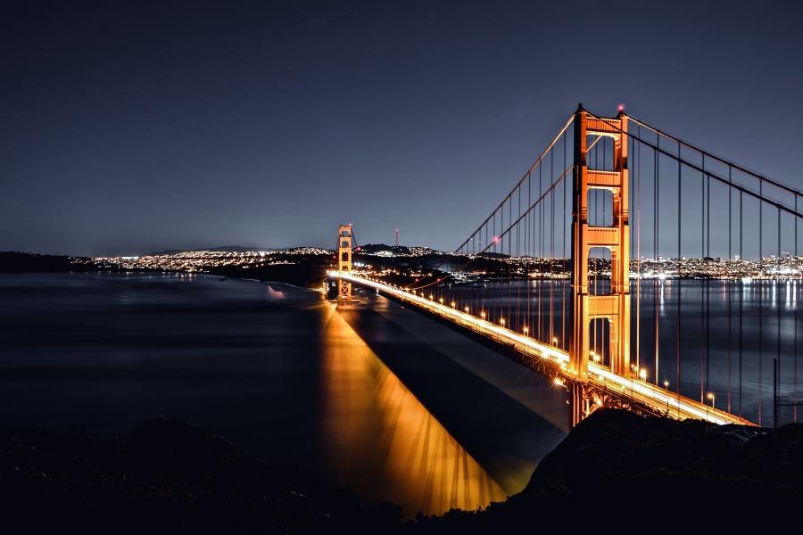 bro, vatten, arkitektur, infrastruktur, reflektion, floden