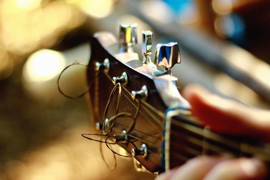 instrumentu, instrument muzyczny, gitary, ciąg, drewna