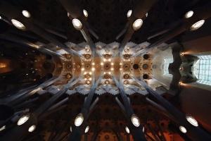 strop, arhitektura, zgrada, interijer, dizajn, svjetla, stupova