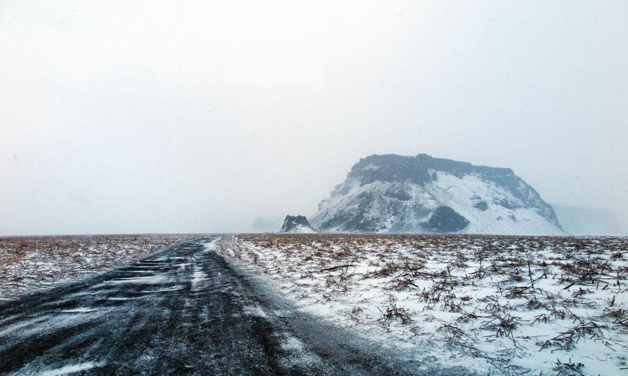 Nieve, invierno, frío, niebla, paisaje, montaña