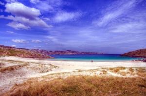 бряг, небе, вода, плаж, природа, океан, пясък, море