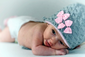 baby, girl, beautiful, bed, child, cute