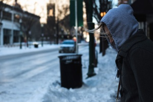 weather, winter, focus, frozen, street, urban, vehicle