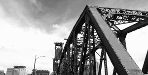 Ciel, acier, architecture, pont, bâtiment, construction, fer à repasser