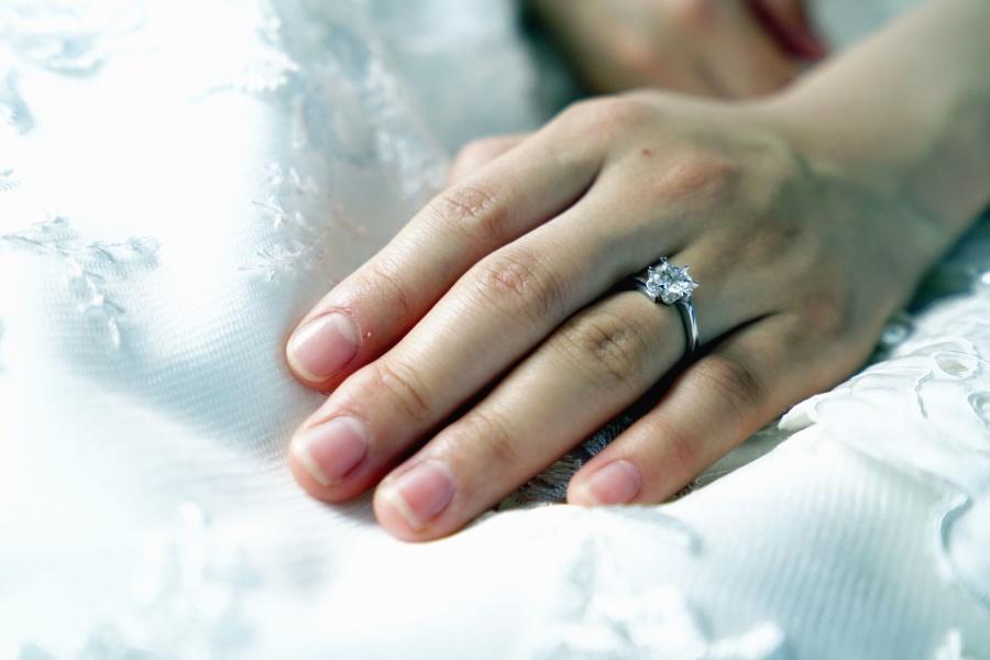 wedding dress, woman, love, marriage, ring