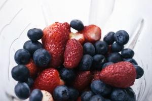food, fruits, strawberries, berries, blueberries