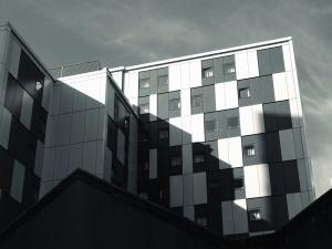 exterior, urban, windows, architecture, building, design, futuristic, glass