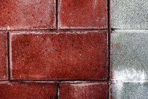 Líneas, textura, pared de ladrillo, ladrillo, pared