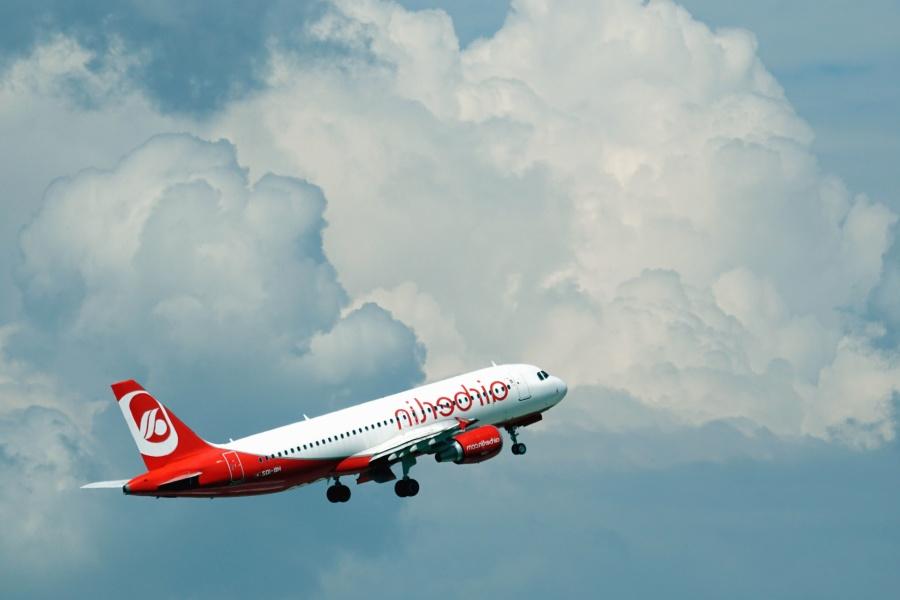 fly, luftfart, skyer, landing, himmelen, reise