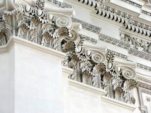 church, interior, architecture, wall, statue, sculpture, catholic, baroque