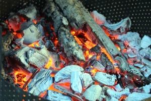 Madera, barbacoa, fuego, calor, fuego, llama, caliente