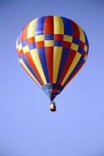 hot air balloon, basket, sky, flying object, warm, air