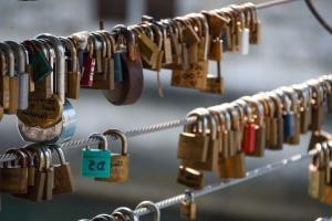 padlock, locked, security, love, bridge, fence