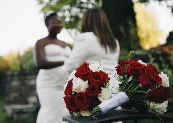 Mariée, fête, fille, mariage, femme