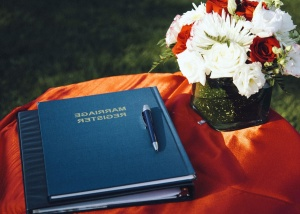 book, bouquet, celebration, pencil, wedding