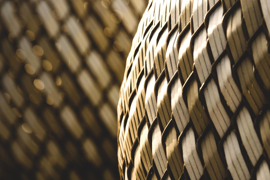 wicker basket, abstract, pattern, wooden, background