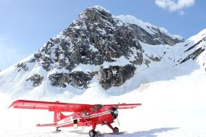 zrakoplov, avion, planine, snijeg
