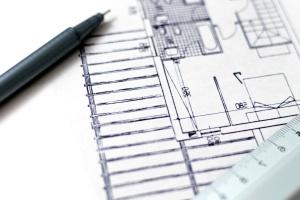 Architecture, crayon, papier, croquis