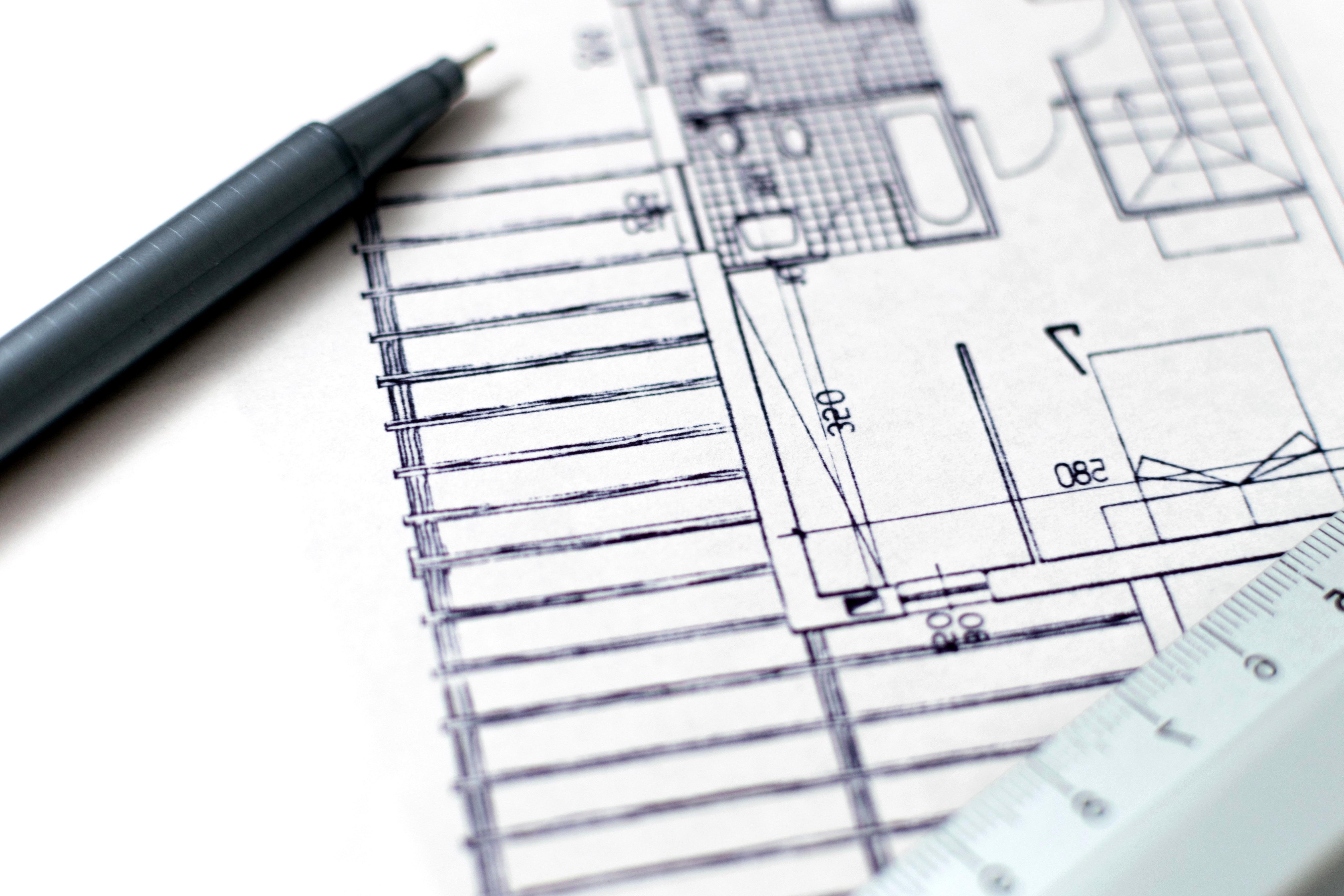 Kostenlose Bild Architektur Bleistift Papier Skizzen