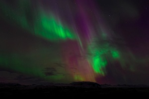 Aurora borealis, gece, gökyüzü