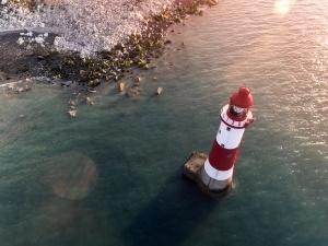 beacon, coast, ocean
