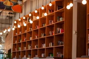 βιβλία, έπιπλα, εσωτερικό, δωμάτιο