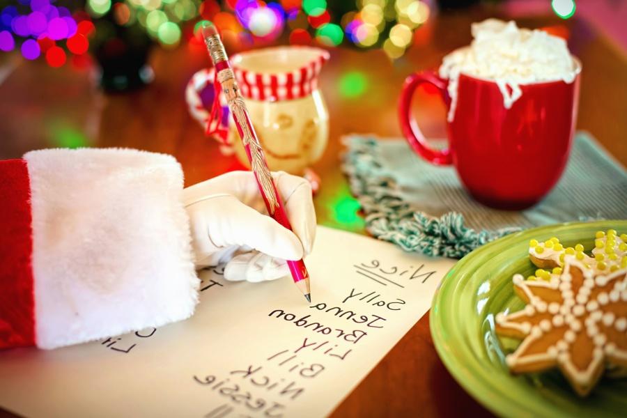 Noël, nourriture, écriture, nourriture, vacances