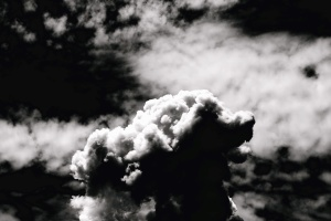 monochrome, sky, storm, clouds, heaven, landscape