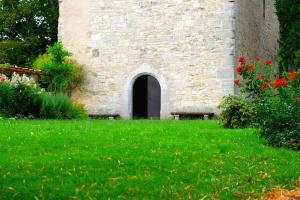 Флора, квіти, трава, Газон, архітектура, цегли, будівництво, двері