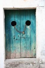 Puerta, puerta, casa, hierro, cerradura, rústico, pared, antigüedad, sucio