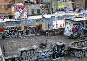 graffiti, street, art, buildings