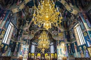 monastery, architecture, monastery, chandelier