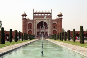 Mezquita, jardín, fuente, edificio, religión, arquitectura