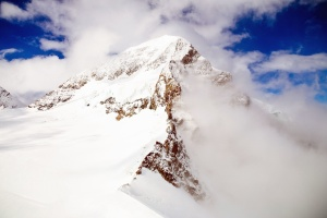 nature, snow, winter, clouds, cold, mountain