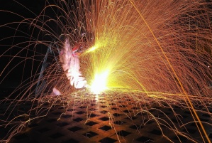 sparks, welder, welding, construction, danger, industry, job, flame, heat, hot