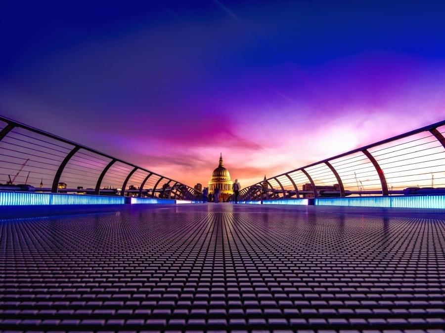 путешествия, городских, исторический, ориентир, архитектура, мост, здание, город