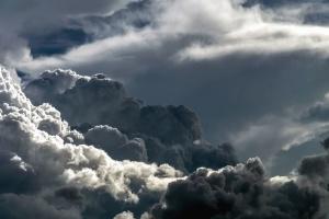 céu, céu, horizonte, nuvens