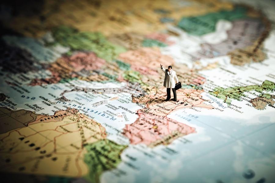 Coğrafya, hedef, harita, minyatür, navigasyon, kağıt, turizm, seyahat