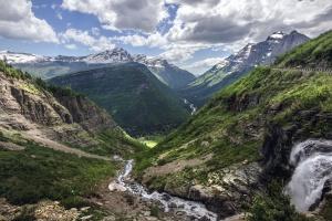 Долина, води, деревини, краєвид, Гора, літо, туризм, подорожі